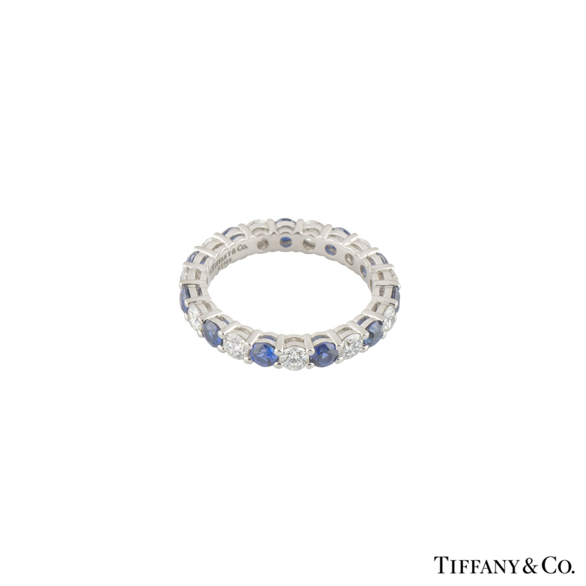 Tiffany & Co. Diamond and Sapphire Embrace Eternity Band Ring